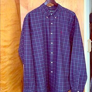 Polo Ralph Lauren woven LS BD shirt in a Navy.
